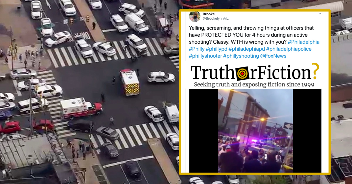Was a Crowd of People Filmed Taunting Philadelphia Police During a Standoff?