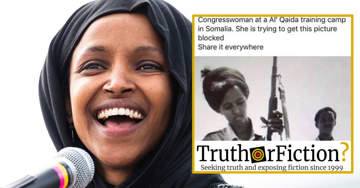 was rep  ilhan omar photographed at an  u0026 39 al qaeda training