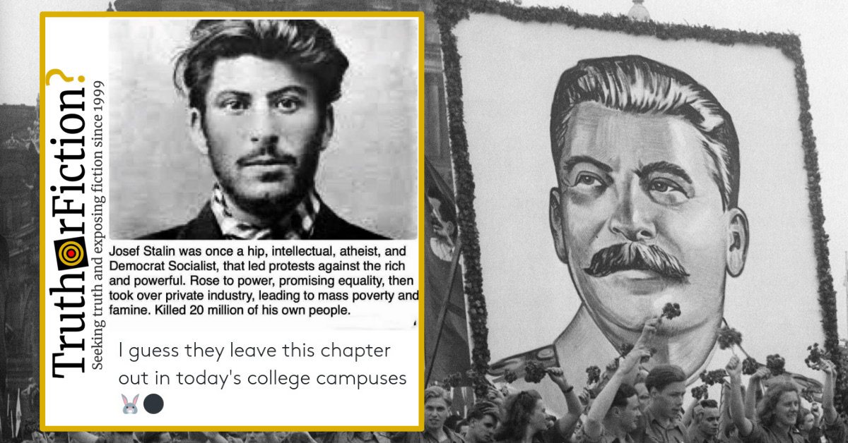 Was Dictator Joseph Stalin Once a Hip, Young Democratic Socialist?