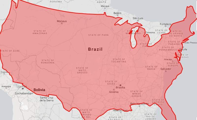 How Much Ground Would the Amazon Rainforest Fires Cover Inside the United States?