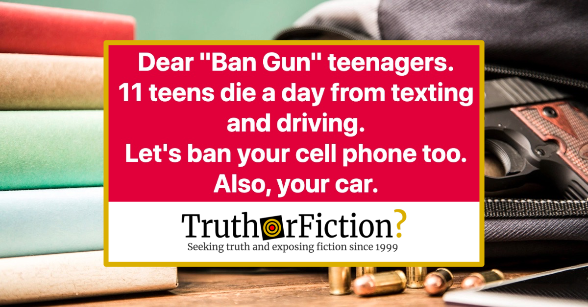 Dear 'Ban Gun' Teenagers, 11 Teens Die a Day from Texting and Driving