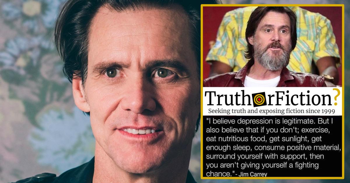 Jim Carrey Depression Meme: 'I Believe Depression is Legitimate. But…'