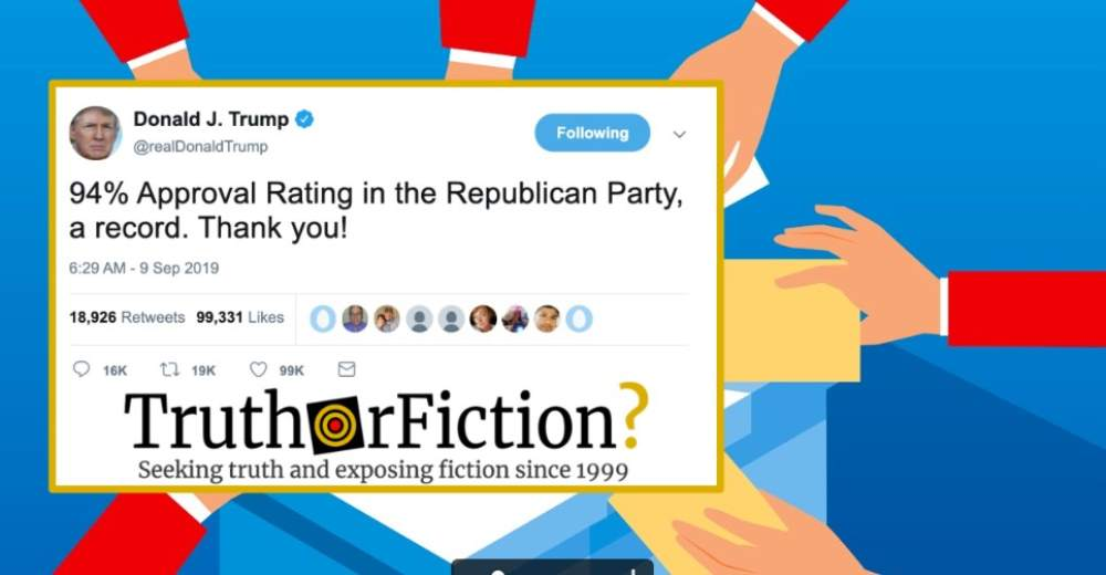 Does Trump Have a 94 Percent Approval Rating with Republicans?