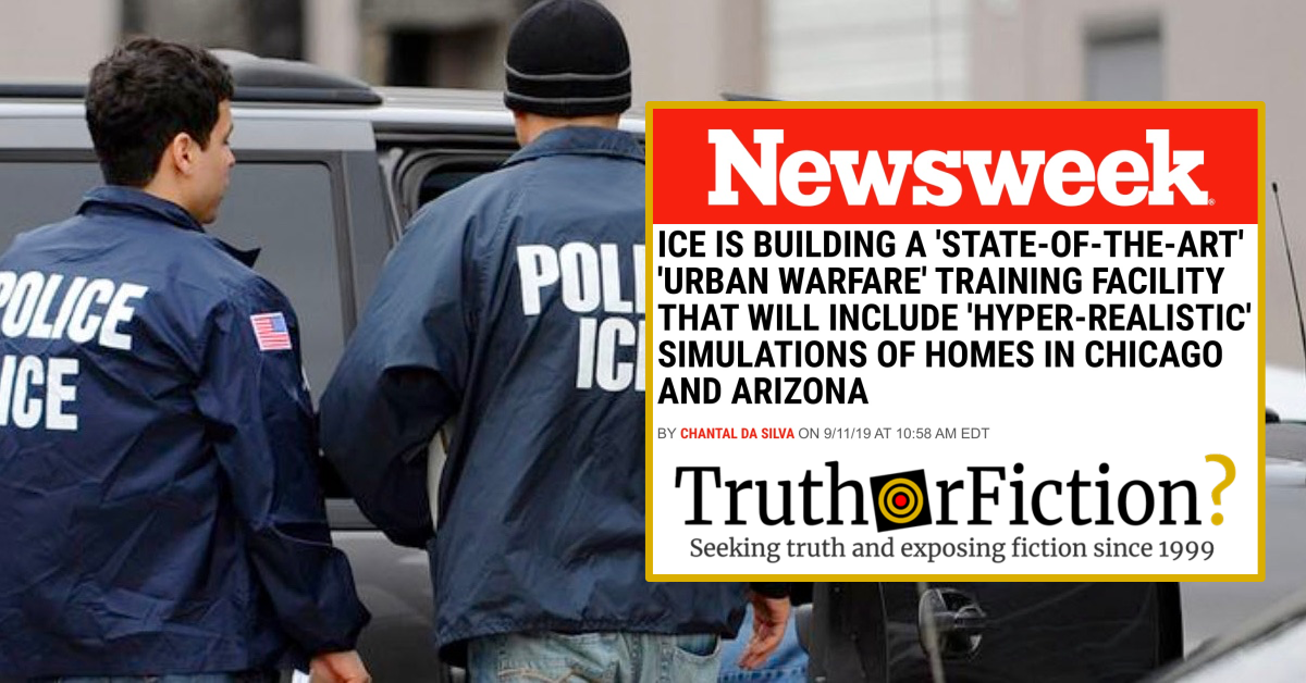 Did ICE Get Caught Shopping for 'Urban Warfare' Training Facilities?