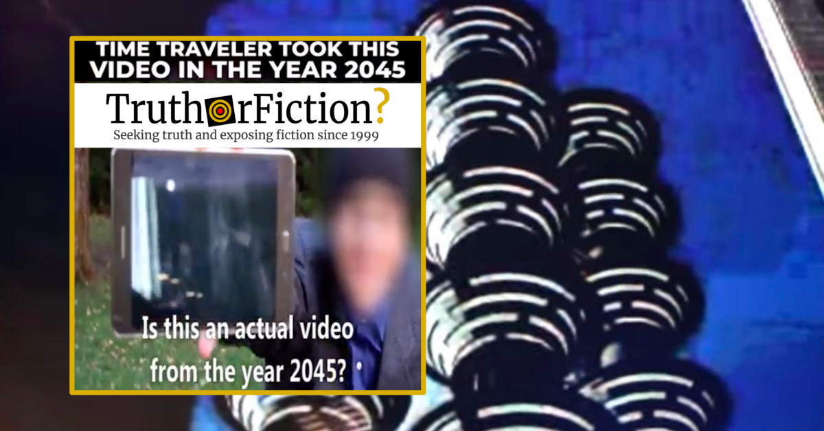 '2045 Time Traveler Took This Video in the Future…'