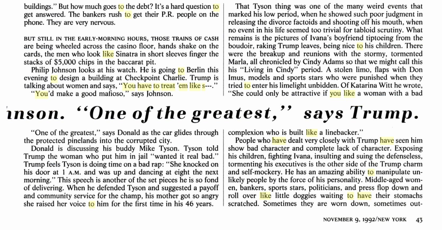 women you have to treat em like shit trump 1992 new york magazine