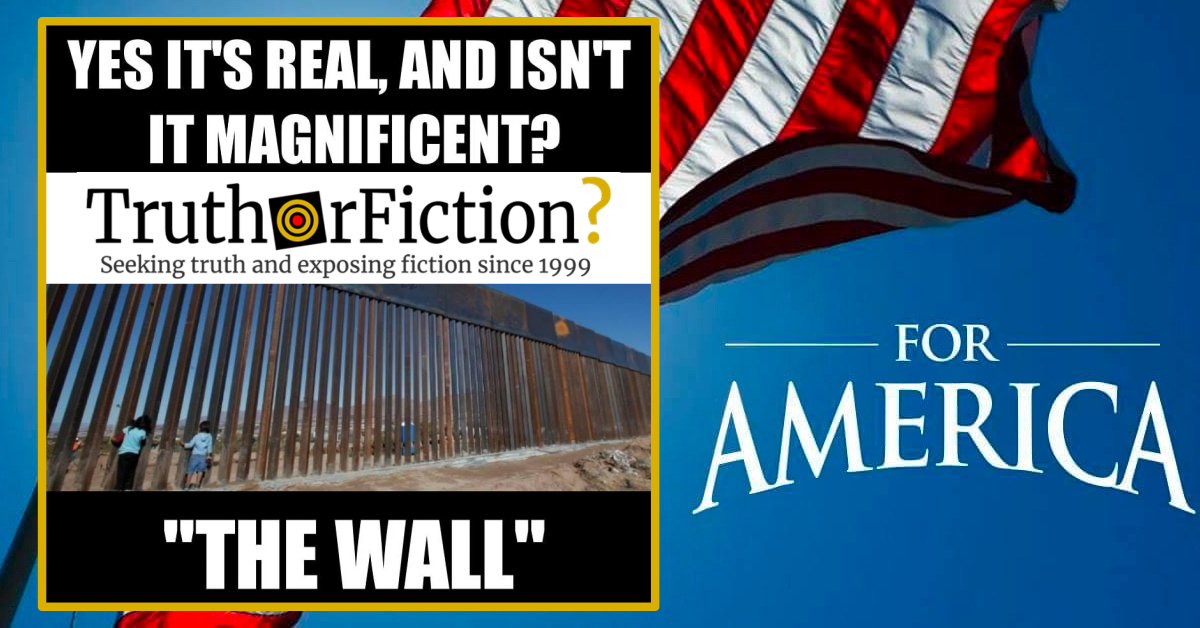 'The Wall, It's Real and It's Magnificent' Facebook Meme