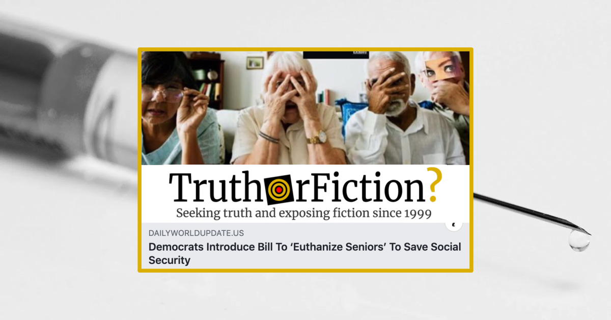 Did a Democratic Lawmaker Introduce a Bill to 'Euthanize Seniors'?