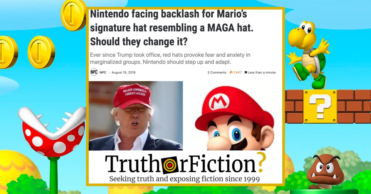 Is Nintendo 'Facing Backlash' for Mario's Signature Hat?