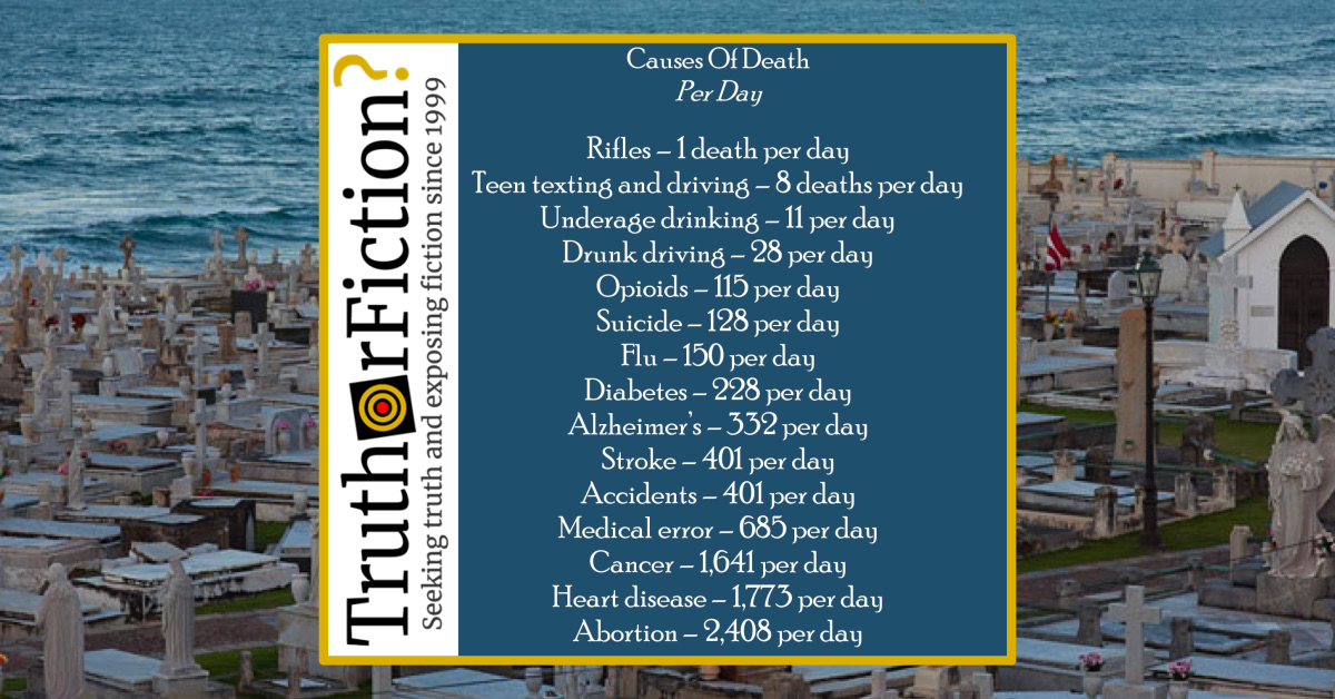 Causes of Death Per Day and Rifles Meme