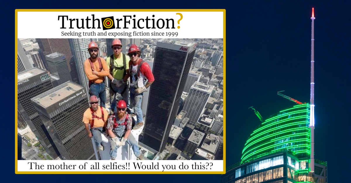 Five Iron Workers Atop a Tower 'Selfie'