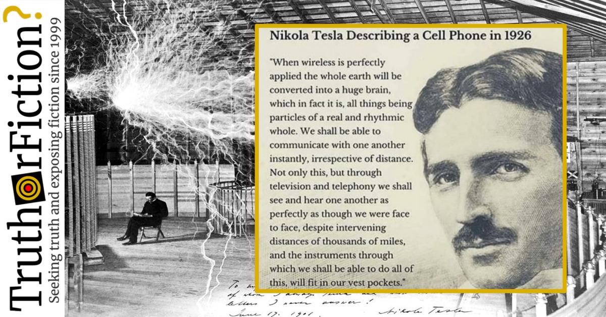 Did Nikola Tesla Describe Mobile Phones in 1926?