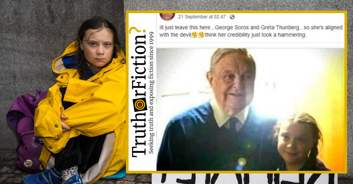 Online Disinformation Tries to Link Greta Thunberg with George Soros