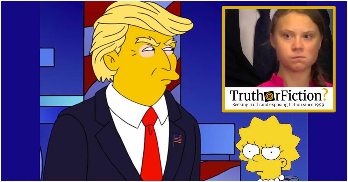 'The Simpsons Predicted Greta Thunberg' Meme