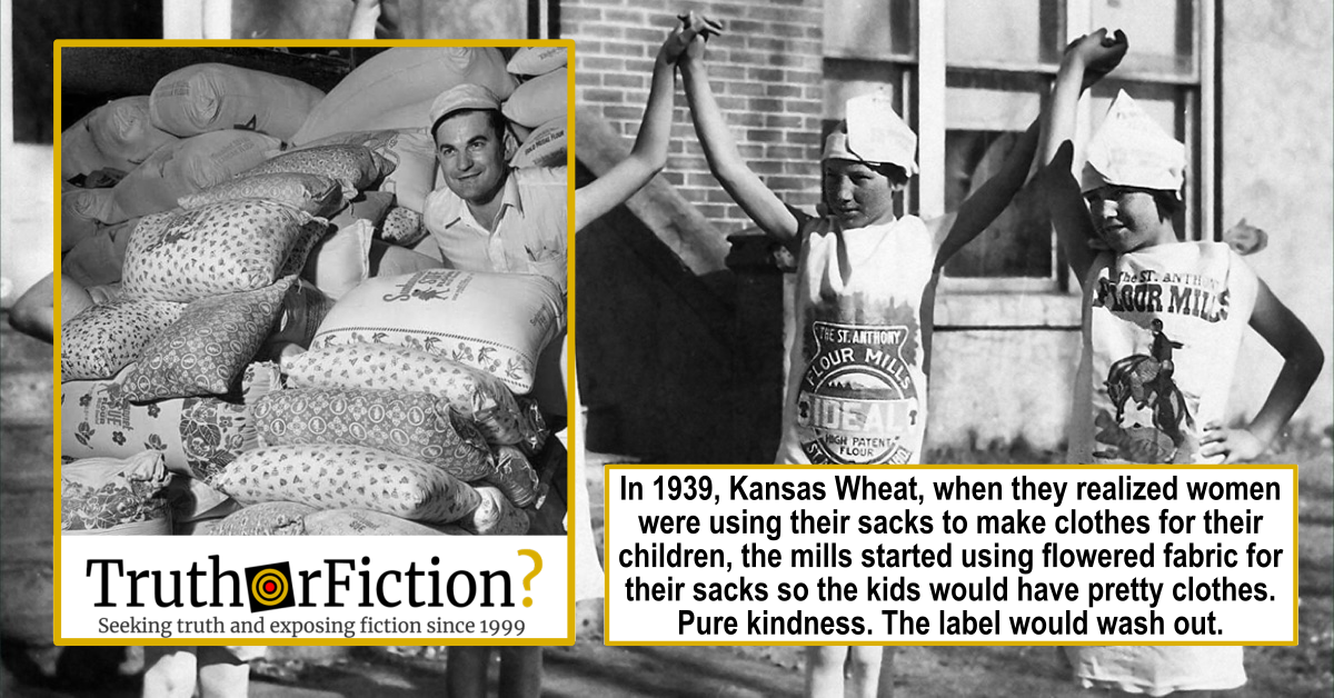 Were Cotton Feed Sacks Turned Into Clothing in the 1930s?