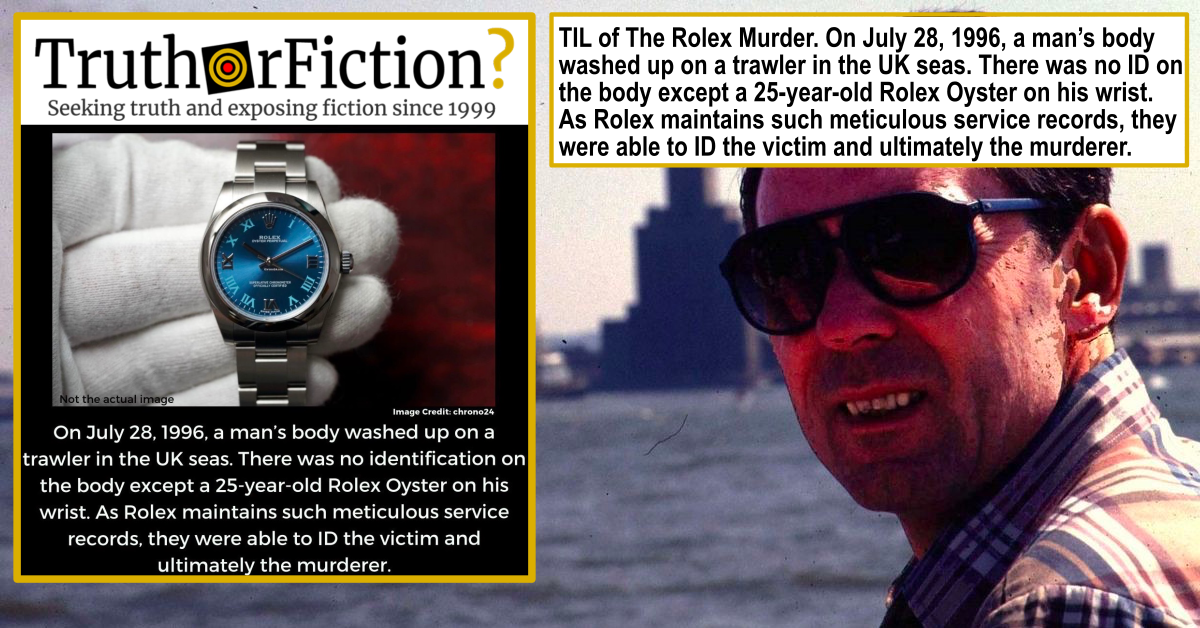 Did Rolex Sales Records Help Solve a Murder?