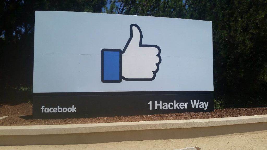 Facebook's headquarters in Menlo Park, California.