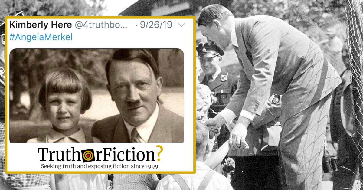 This Is Not Angela Merkel With Adolf Hitler