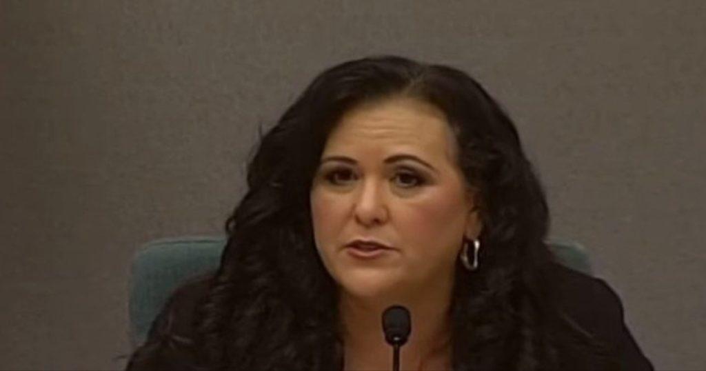 Still from a video of Assemblywoman Lorena Gonzalez.