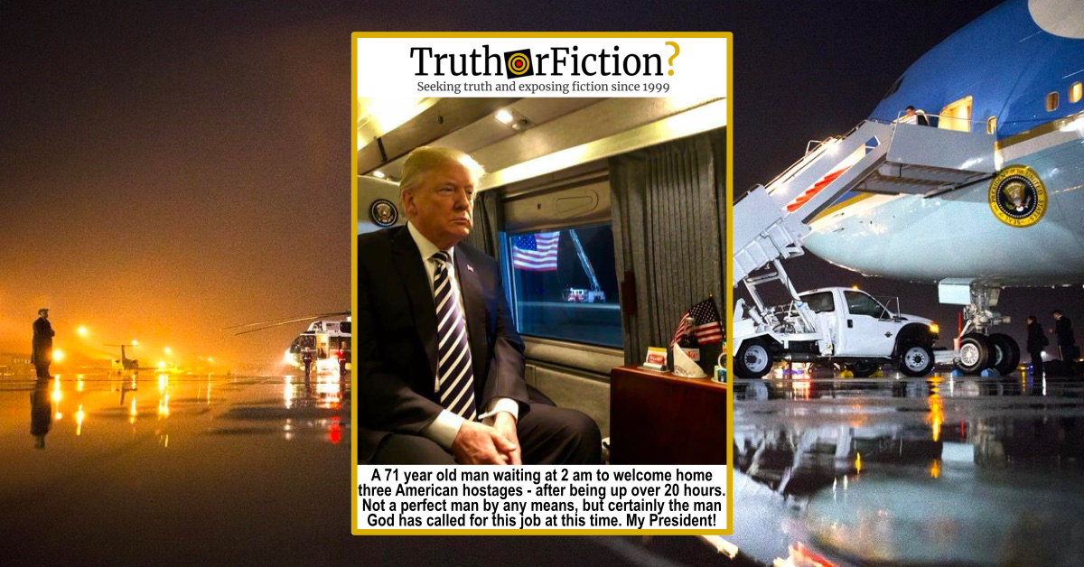 '71-Year-Old Man Waiting Up at 2AM to Welcome Three American Hostages' Meme