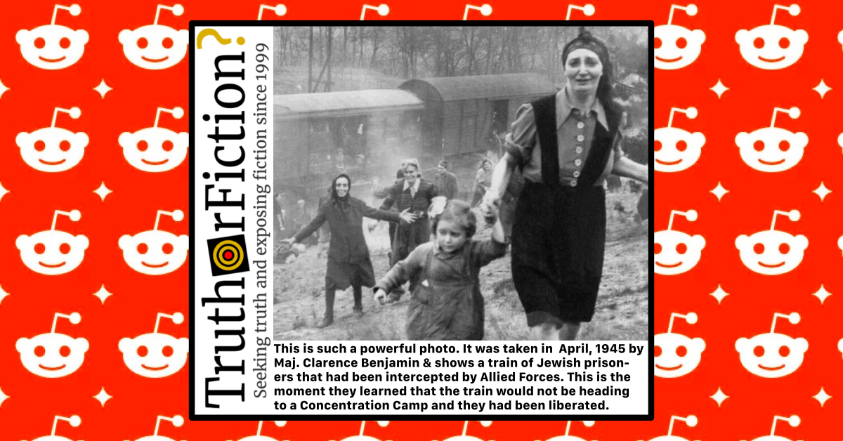 Jewish Prisoners Liberated from a Train in Madgeburg in April 1945