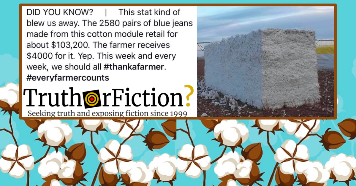 The Economics of Turning Cotton Into Jeans