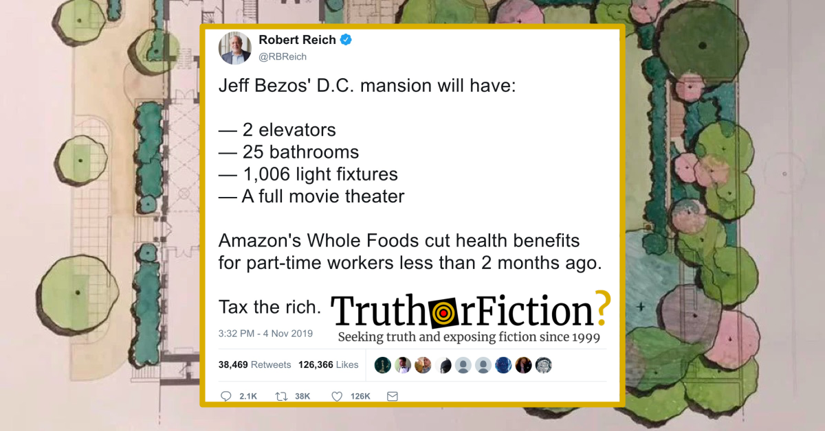 Did Jeff Bezos Cut Whole Foods Workers Benefits as He Bought a Second Mansion?