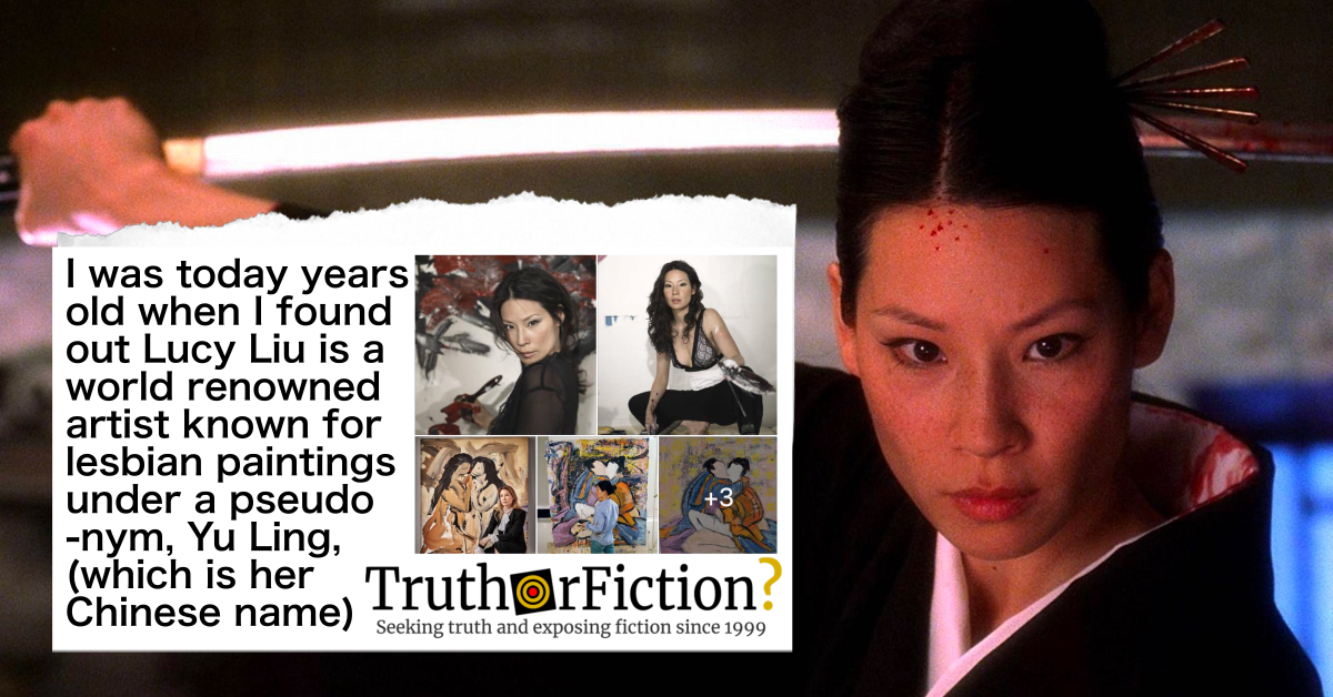 Is Lucy Liu an Acclaimed Artist Known for Her Lesbian Paintings Under the Pseudonym Yu Ling?