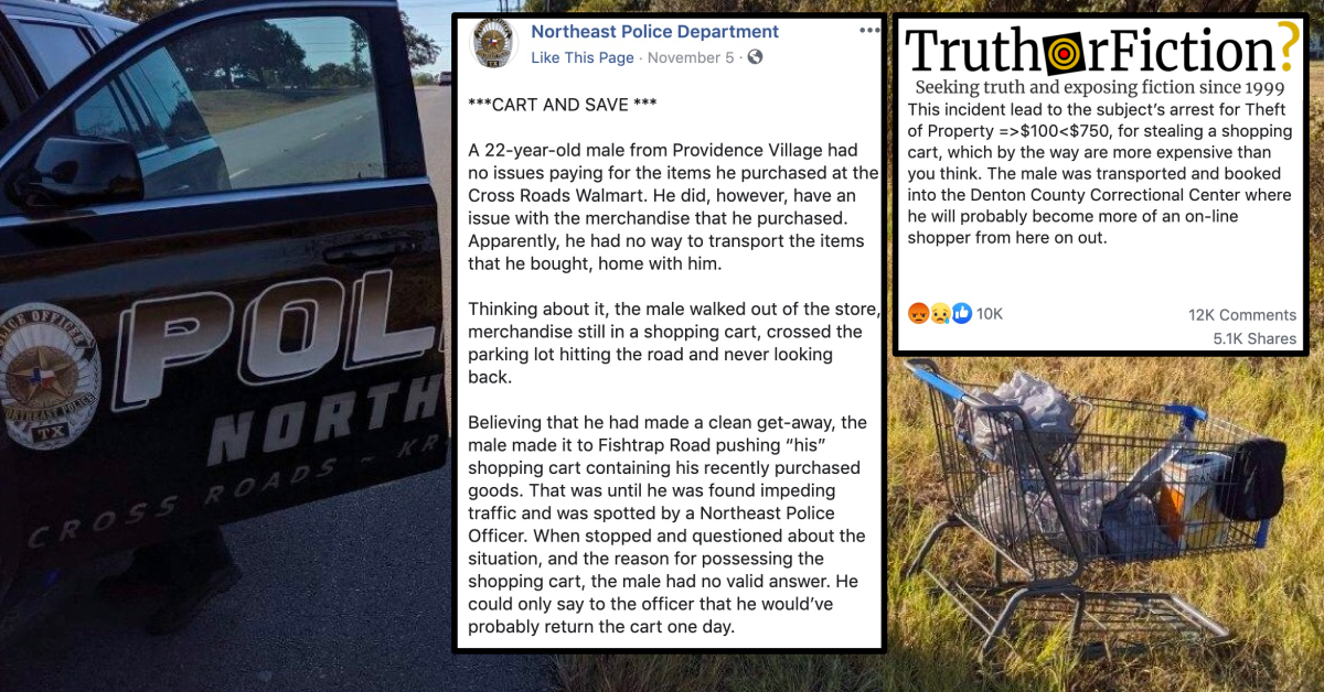 Northeast Police Department 'Shopping Cart' Arrest Controversy