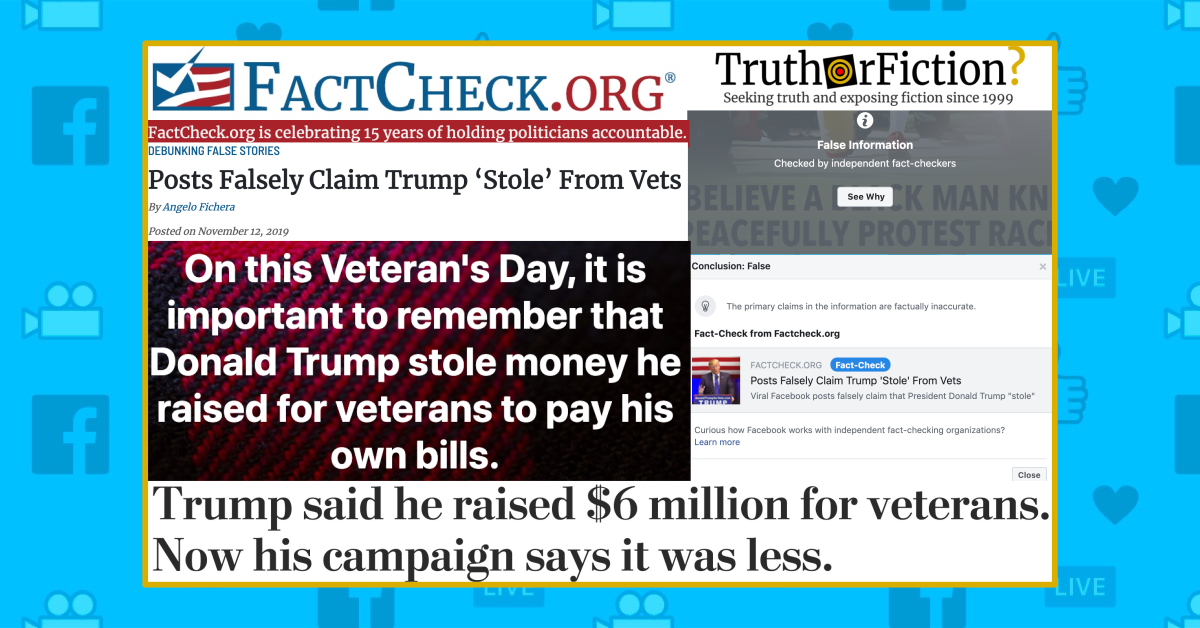 Was Donald Trump Fined $2 Million for Misappropriating Funds Donated for Veterans but Used for His Campaign?