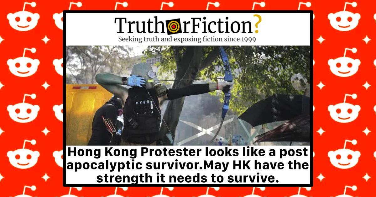 'Hong Kong Protester Looks Like a Post Apocalyptic Survivor'