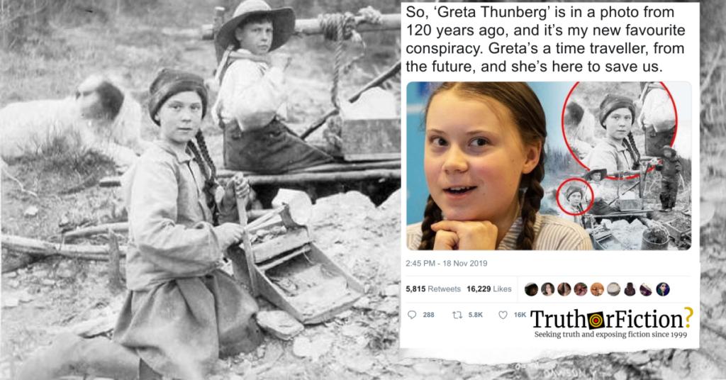 greta thunberg time traveler conspiracy theory