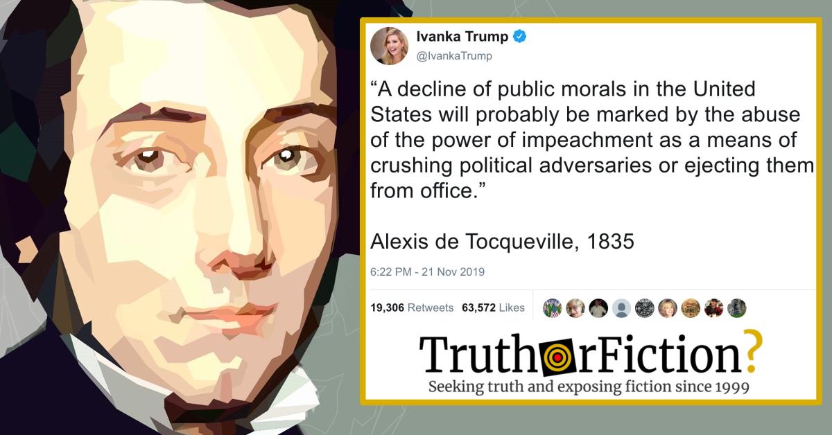 Ivanka Trump and the Alexis de Tocqueville Quote