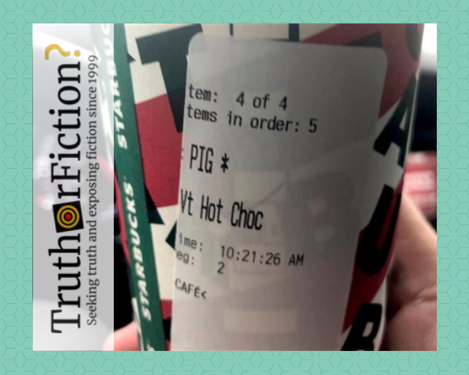 Was a Starbucks 'PIG' Cup Debate Amplified by a Police Chief's Daughter?