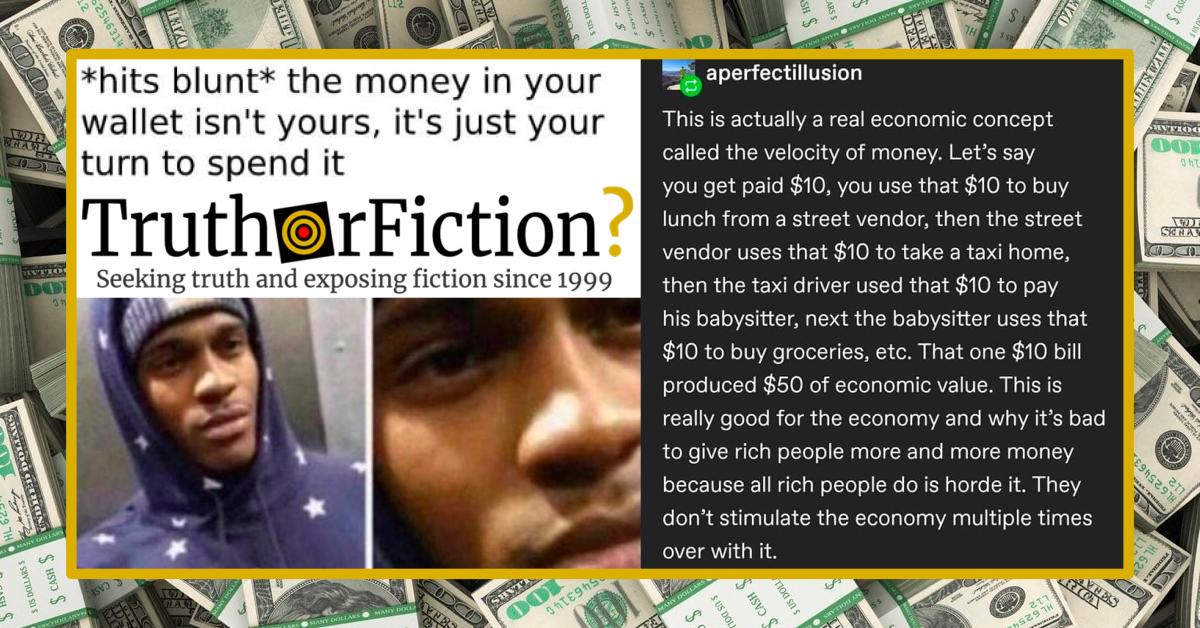 'Velocity of Money' Tumblr Post