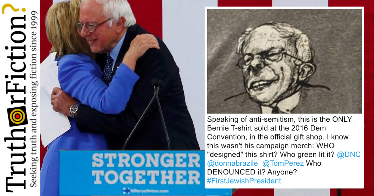 Was an 'Anti-Semitic' Bernie Sanders Shirt Sold at the DNC in 2016?