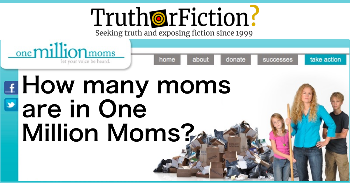How Many Moms Are in 'One Million Moms'?