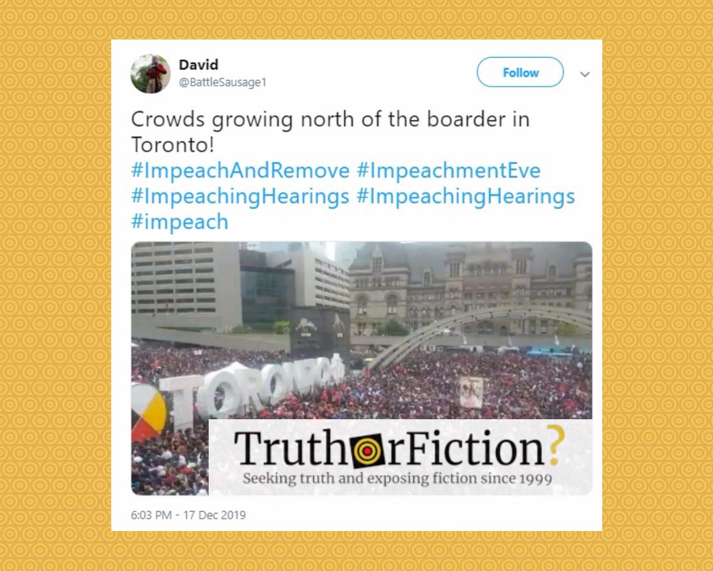 Hoax 'Toronto Impeachment Protest' Photo
