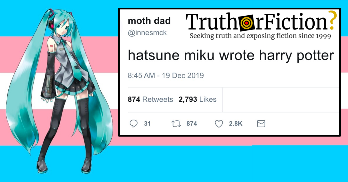 Hatsune Miku and Harry Potter