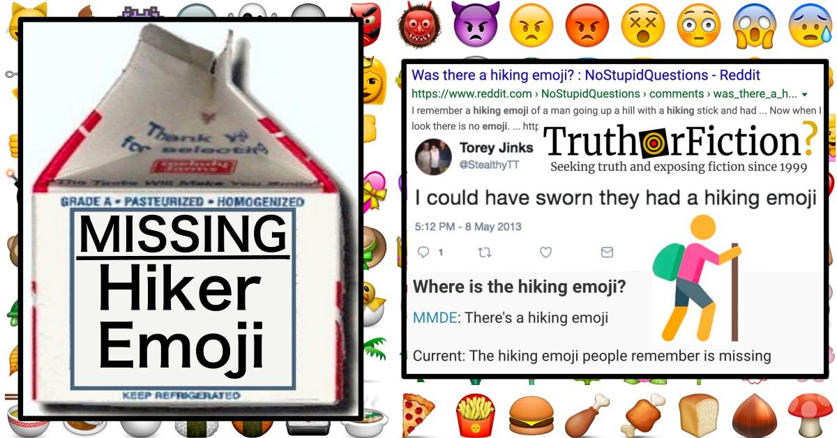 'Missing' Hiker Emoji Mandela Effect