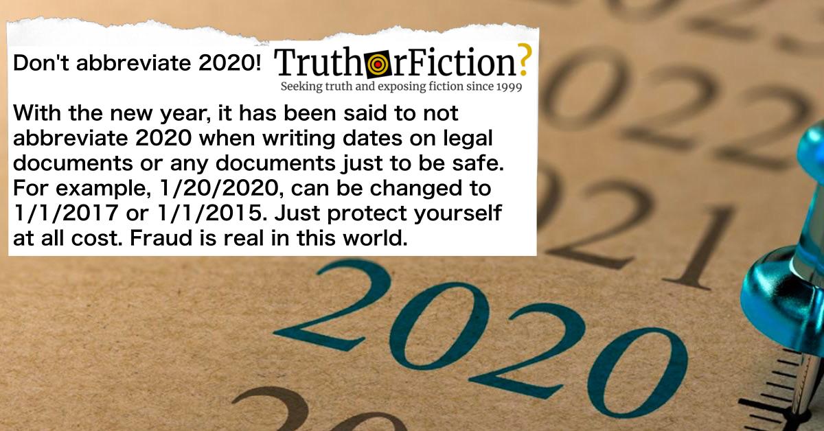 'Don't Abbreviate 2020' Warning