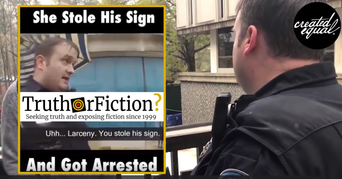 'Woman Steals Trump Sign, Immediately Regrets It' Video