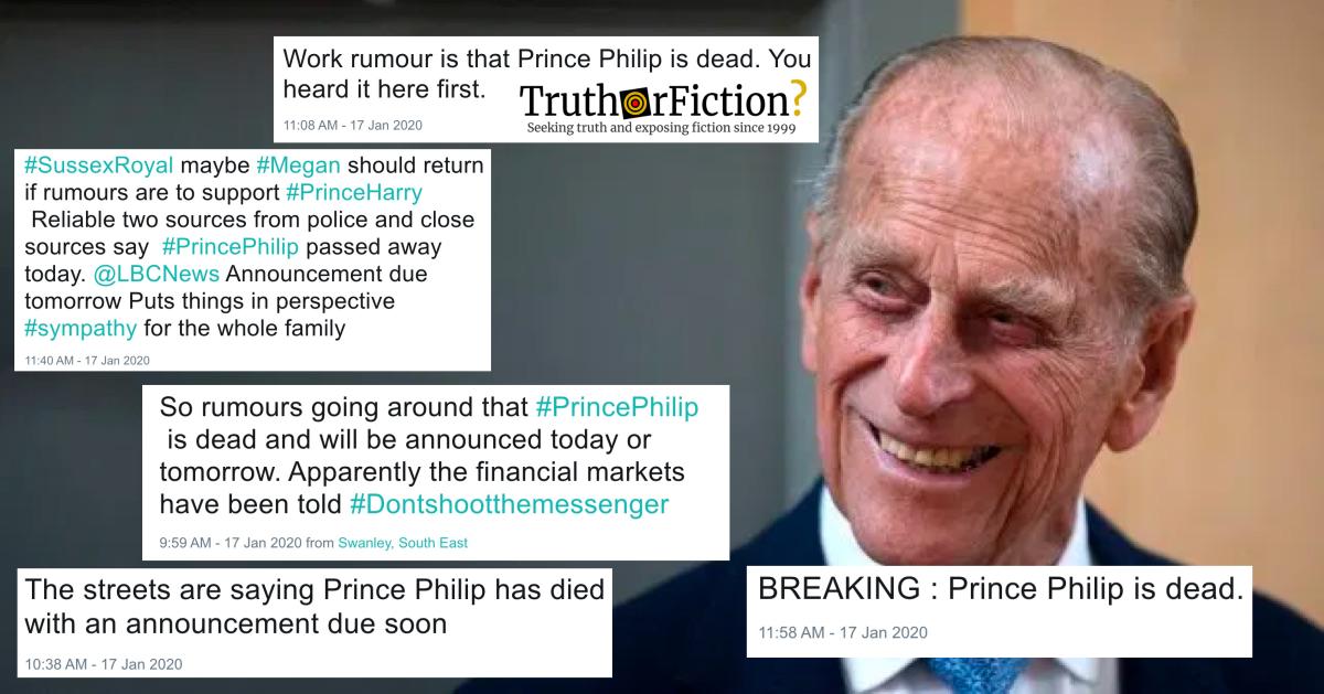 RUMOR - SEGÚN TWITTER : Prince Philip, Duke of Edinburgh ...