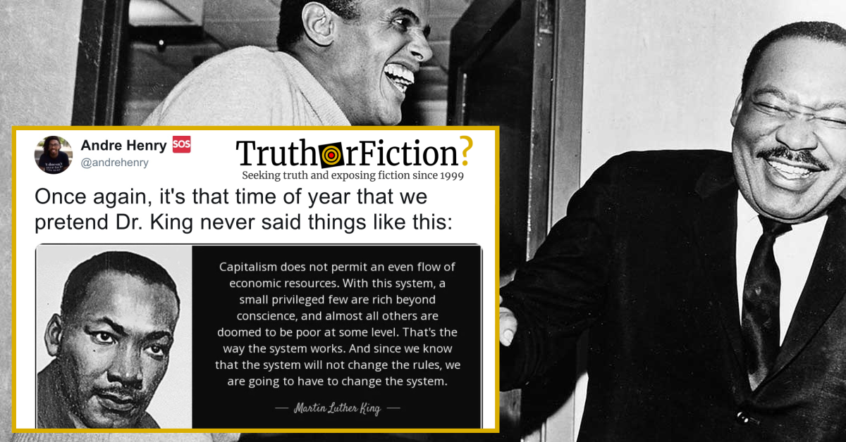 Martin Luther King, Jr.: 'Capitalism Does Not Permit an Even Flow of Economic Resources'