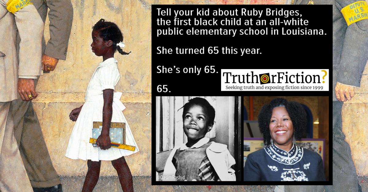 'Ruby Bridges is Only 65' Meme