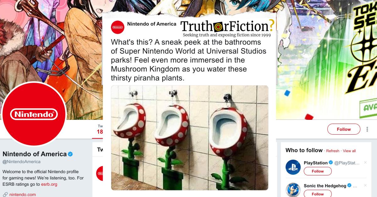 Super Nintendo World Mushroom Kingdom Urinals