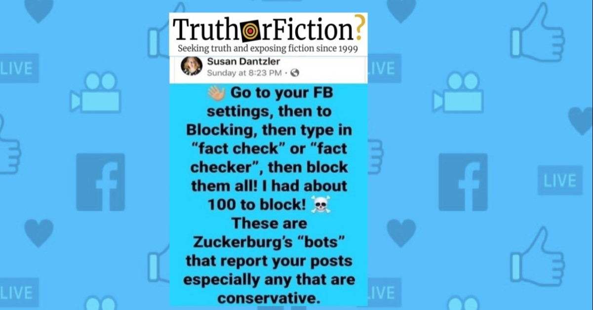 Can You Adjust Facebook to Block Fact-Checkers?