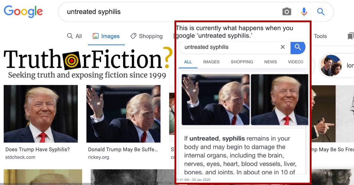 Google 'Untreated Syphilis' Meme