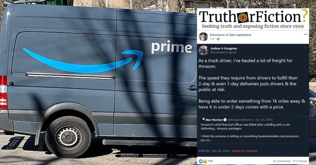 Was Amazon's First CFO Killed by One of the Company's Delivery Trucks?