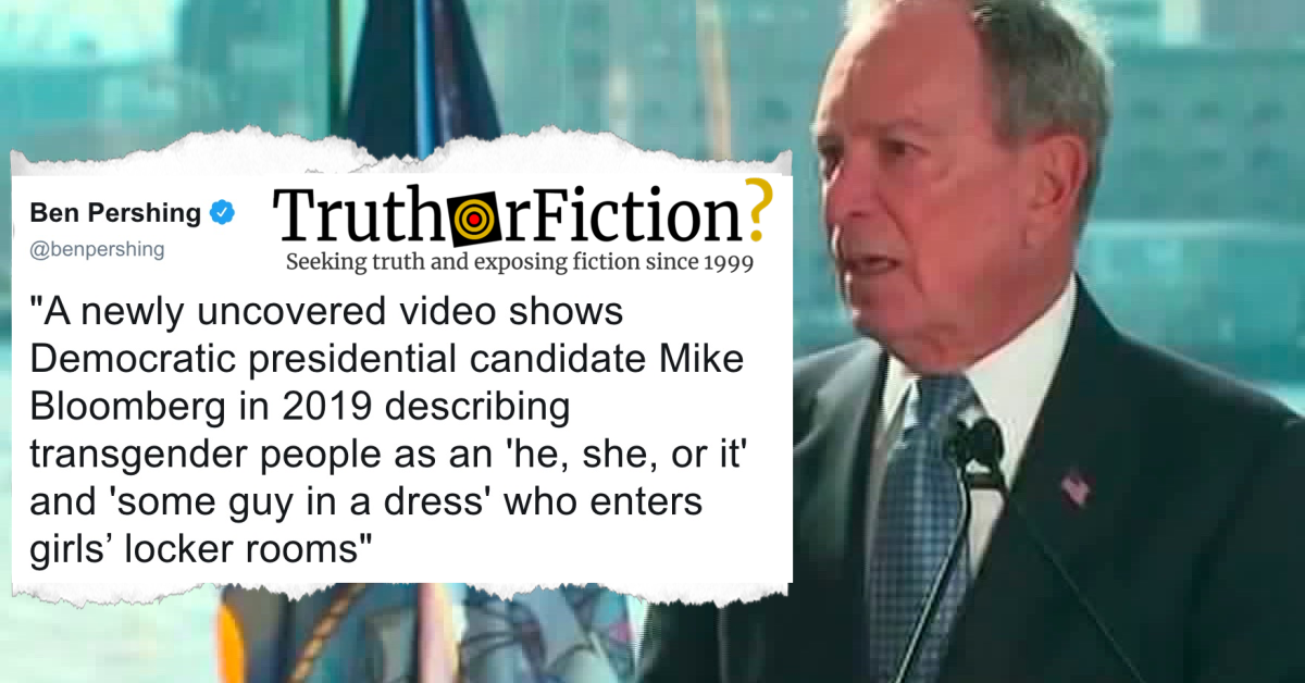 Bloomberg on 'Some Guy in a Dress' and 'He, She, or It' in 2019